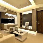 后现代风格时尚客厅吧台设计
