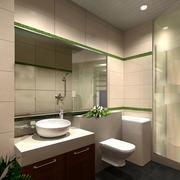 别墅大型卫生间瓷砖效果图