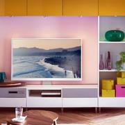 现代简约风格渐变色彩电视背景墙设计