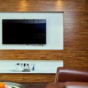 小户型美式简约风格原木客厅电视背景墙