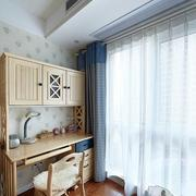 美式儿童房木制桌柜设计
