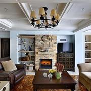 三室一厅简约风格客厅石膏板吊顶