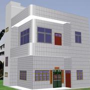 白色瓷砖农村房屋效果图