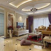 欧式简约风格客厅背景墙装饰