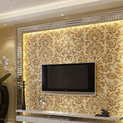欧式奢华印花电视背景墙
