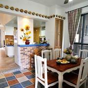 地中海风格餐厅桌椅设计