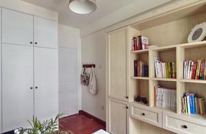 简约风格书房整体书柜设计