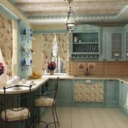 地中海风格田园式厨房飘窗装饰