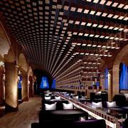 咖啡厅创意吊顶设计