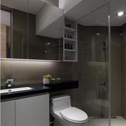 后现代风格卫生间置物柜装饰