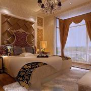 欧式奢华床头背景墙装饰