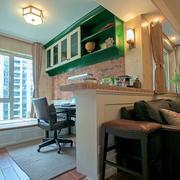 美式小书房地板设计
