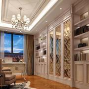 别墅欧式奢华书房装饰
