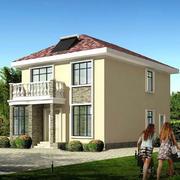 简约风格两层带阳台式农村房屋设计