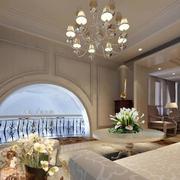 简约风格客厅吊顶灯饰装修