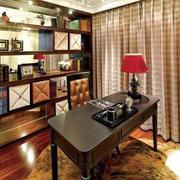 欧式复古书房桌椅设计