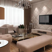 欧式风格客厅软包背景墙