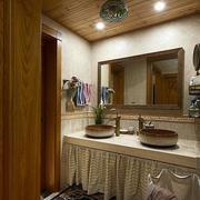卫生间原木吊顶设计