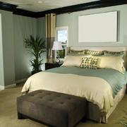 简约欧式卧室清新背景墙设计