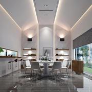 后现代风格室内餐厅设计