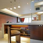 后现代风格原木吧台设计