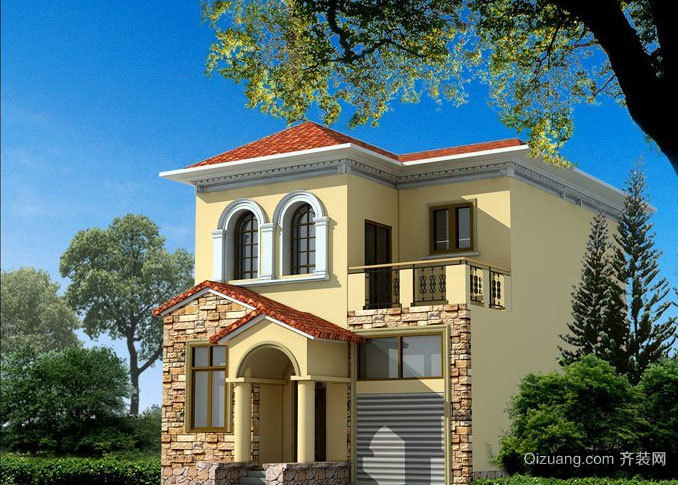 优雅不俗、朴素精致的农村二层房屋设计图欣赏大全