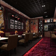 后现代风格咖啡厅卡座设计