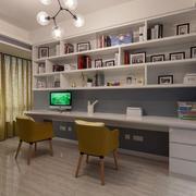 后现代风格书房整体书柜设计