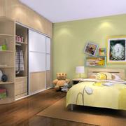 韩式清新儿童房背景墙装饰