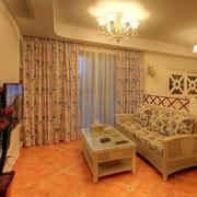 欧式客厅简约风格飘窗装饰