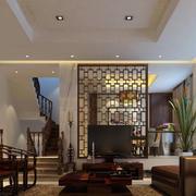 中式简约风格客厅隔断装饰