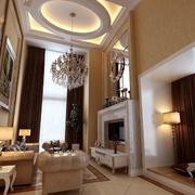 别墅客厅欧式圆形吊顶