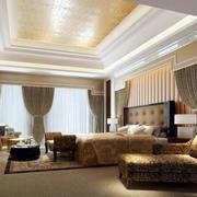 欧式卧室简约风格吊顶装修