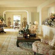 欧式客厅田园风格沙发装饰
