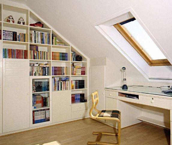阁楼斜顶天窗设计图片