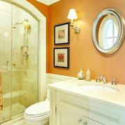 美式暖色系卫生间装饰