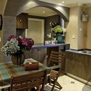 美式原木厨房装饰