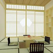 日式自然清新榻榻米效果图