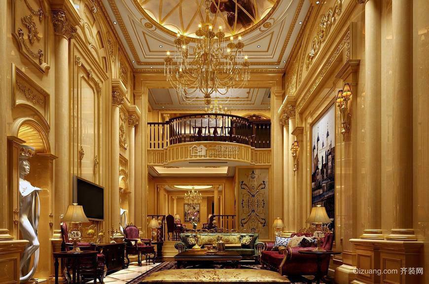 金碧辉煌的视觉感受 巴洛克风格客厅装修效果图