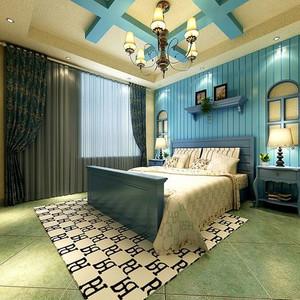 地中海风格卧室背景墙设计