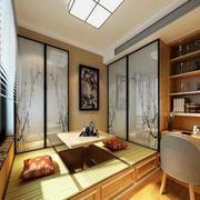 日式榻榻米房背景墙设计