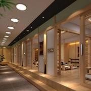 日式简约餐厅过道灯饰