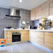 后现代风格原木厨房效果图