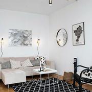 后现代客厅沙发背景墙装饰