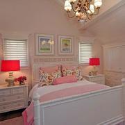 粉色系卧室精美灯饰