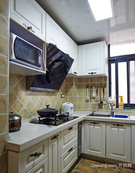 简欧风格两居室厨房装修效果图大全