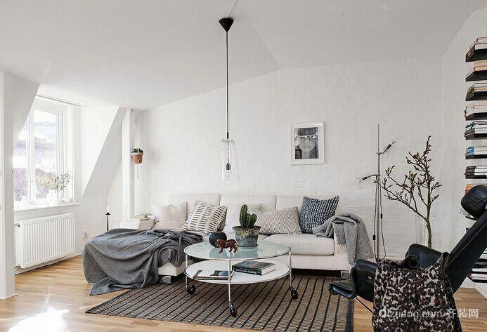 120平米后现代风格混搭设计客厅装修效果图