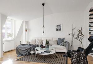北欧风格客厅简约沙发装修