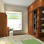 卧室深色衣柜效果图