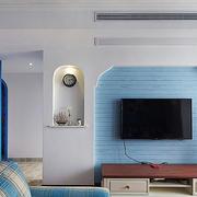 地中海风格三室一厅电视背景墙